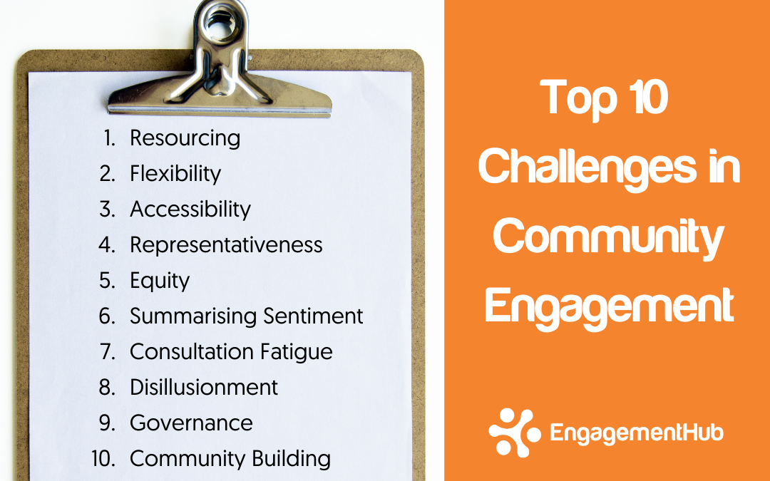Top 10 challenges in community engagement